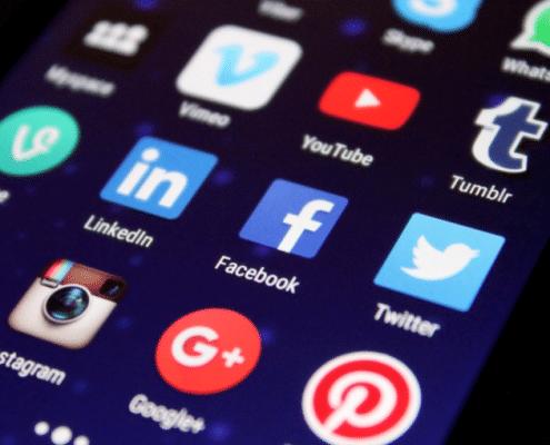 Bedrijfspagina op social media
